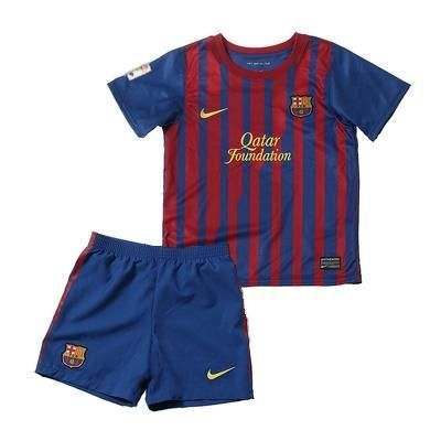 11-12 Barcelona Home Soccer Uniform